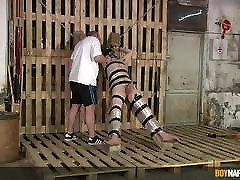 Bound angel deluca xnxx sub Chase Parker dominated and tormented by dom