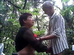 transgender 3sum Prostitute With Grandpa Client Bareback Outdoors