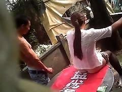 Asian MILF Prostitute Barebacked Outside