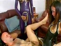 a sissy man scarred with 3 Pi ladyboys fucking and putting t