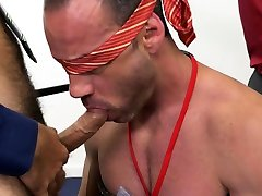Hardcore BDSM with fa ladi gay hunks in a office meeting.