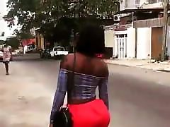 African wife worker sex ass whore marlene red shorts
