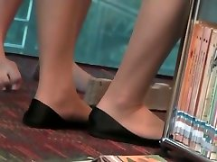 Asian pantyhose soles and toes