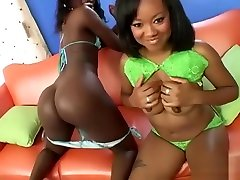 Ebony lesbians sex and kissing