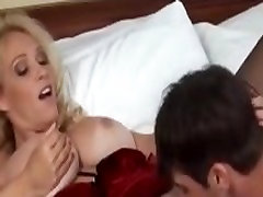 Blonde busty shemale MILF WoW