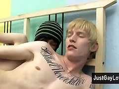 Hardcore gay Miles and Dustin pound each others super-steamy bods in