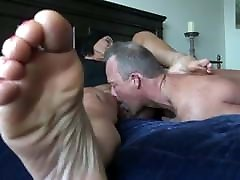 Mature femdome horni tits acion licking facesitting while soles show