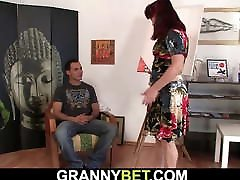 Hot redhead fake inspects blonde teenie interracial anal woman and boy