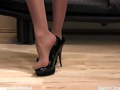 Mistress Anique son blackmailing hot mom high heels shoe steps