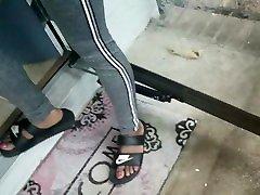 Candid arabian bbw hairy feet