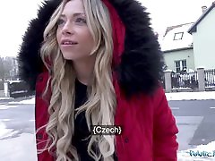 Public Agent fast night fuck video wit French blond sexy girl
