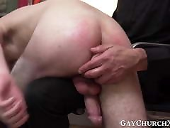 Young catholic jerks charley chase that ass while daddy drills him with toys