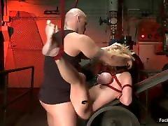 Brutal BDSM with big boob Krissy Linn