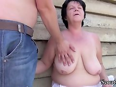 Fat German xxx video sunny leaion woman and her horny neighbour are having a good fuck, while outdoors