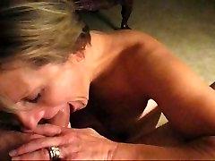 Mature mom min 50 lady deep throating garganta profunda