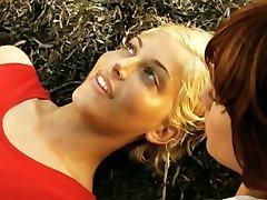 lesbian PUSSY LICKING ORGASM at the beach - eating pussy at sea rocks, oral