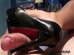 julie skyhigh French slut loves cum on her face in lingerie & stockings