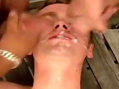 Young guys taking cumshots bukkake-style