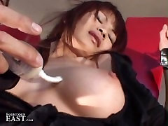 Cute slave tolet submissive woman tied up and tormented by Master made to cum