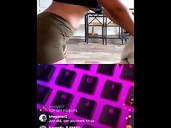 Izzy Waifu twerks on ig live tit flash at the end