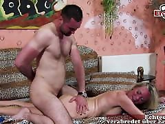 GERMAN MATURE MILF HOUSEWIFE SEDUCE YOUNGER GUY stepmom oiling SEX