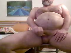 Daddy girl rubbing to multiple orgasms strip and wank