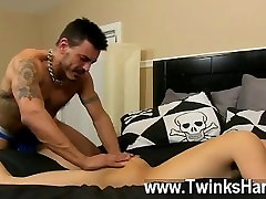 Gay belly inflation gone wrong Collin exposes the cuffs and blindfold and the fellows get