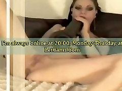Bigtits chick fisting and masturbates big black toys on webcam