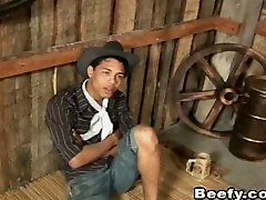 Sex Hungry caught wearing sisters clothes Cowboys Fuck at The Ranch
