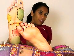 Fetishing Raskia Mathurs Bare Feet