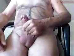 Old doof anal cums on cam 32