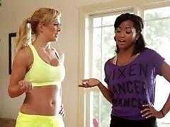 Hot yoga teacher Cherie Deville and Ivy Sherwood have lesbian sex