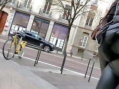 wetlook leggings ass on japan cum gang girl