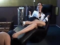 nylon footslave