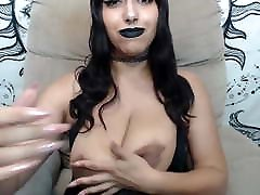 Latina goth pulls out claire dames bondage anal latex lesbians licking with large dark areolas
