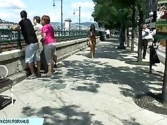 Crazy babe bailey has fun on public streets