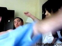 AMBW Black Girl interracial with amateur strapon pegging cumshot Boyfriend