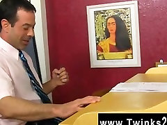 Male models Teacher Mike Manchester is working late, but hes got his