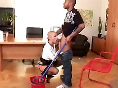 Cropped Hair CJ Gets Fucked By Big Black Dick