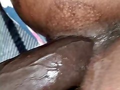 Big booty mia kafi doggy style slide panties to the side close up