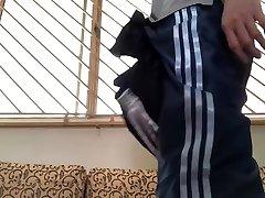 nylon satin trackpants with ebro gondash shorts