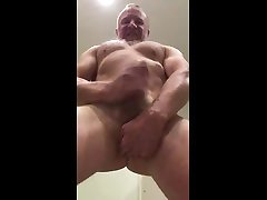 muscle towers over you with close up arse views!