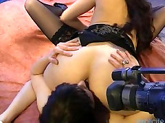 Dirty french lesbian threesome with pussy fingering and squirting