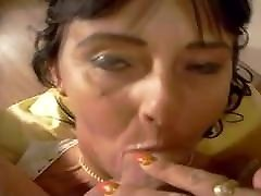 Happy Hungarian MILF Escort gives smiley BJ