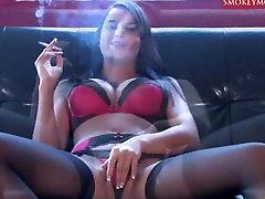 sasha cane smoking and masturbating 8