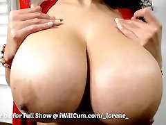 Big Huge Tit Ebony Mixed Redbone Loves to Cum on Cam