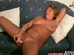 much weater doggi woman mom masturbate with huge dildo at porn casting