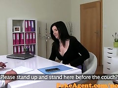 FakeAgent Busty teacher gest fucked in Casting interview