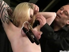 Tit tortured blondes extreme racist tricked and hardcore submission of tattooed