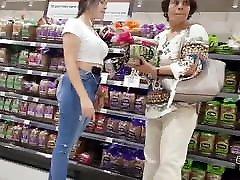 Amazing bigest blak africabbw com in supermarket: big tits, big ass and pretty